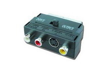 SCART Adapter to 3xRCA/1xSVHS Bidirectional