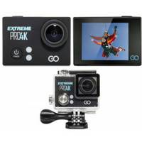 """Action Camera GOCLEVER EXTREME PRO 4K FullHD/2.7K/4K 2.0"""" IPS LCD w/Waterproof case and Selfie Stick"""