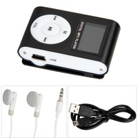 MP3 Player LCD w/FM/Micro SD/Mic Black