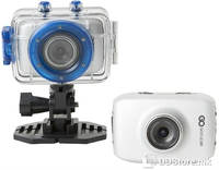 "Action Camera GOCLEVER Sport Silver HD 720p/2.0"" LCD w/Waterproof case Bike/Helmet/Car mount"