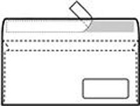 Плик американ со десен прозор