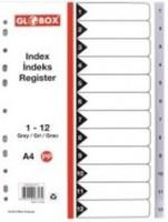 Разделници А4 12 бои/броеви