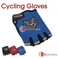 Bicycle Bike Half Finger Cycling Gloves Pad Mesh w/ Gel
