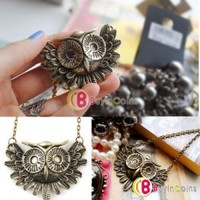 Fashion Charming New Lovely Style Retro Night Owl Pendant Necklace #3 Hot