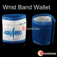 Wristband Wrist Band Wallet Purse Pocket Sports Running