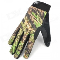 HANDCREW Bike Cycling Full Finger Fiber + Lycra Gloves - Camouflage (Pair)
