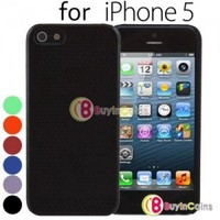 Stylish Grid Silicone Hard Back Cover Case Skin 4 Apple iPhone 5 5th Gen 5G Five
