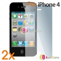 2 X LCD Screen Protector for Apple iPhone 4 4G 4S 4GS/4th iOS4