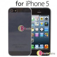 Transparent Silicone Hard Back Cover Case Skin fr Apple iPhone 5 5th Gen Five #7