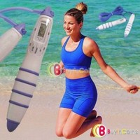 Digital LCD Jumping Skipping Rope Calorie Count Counter