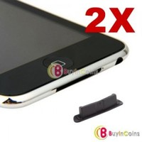 2 x Silicone Dock Cover Dust Cap for iPhone 2G 3G 3GS