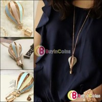 Korean Beauty Style Dreamer On Air Colorful Crystal Focus Fire Balloon Necklace