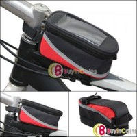 Cycling Bike Bicycle Waterproof Frame Pannier Front Cell Phone Tube Bag Case