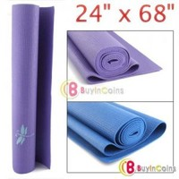 "24"" x 68"" Yoga Mat Pad Non-Slip Exercise Fitness Color"
