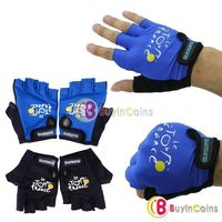 Mens Outdoor Sport Bike Cycling Bicycle Half Finger Gloves 2