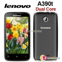 """4"""" Lenovo A390t Dual Core MT6577 1GHz Android 4.0 Smartphone WCDMA Mobile Phone"""