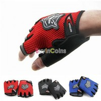 Bicycle Bike Fitness Anti Slip Half Finger Exercise Workout Sport Gloves