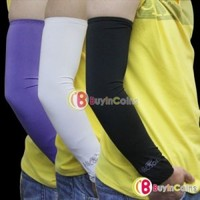 1 Pair Arm Sleeve Cover UV Bike Bicycle Golf Basketball 2