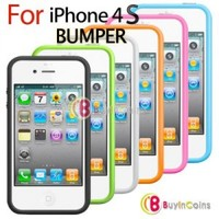 Silicone Bumper Frame Case Cover Skin Protector for Apple iPhone 4G 4S 4GS New