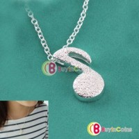 Cute Beautiful Alloy Musical Lady Love Music Note Fashion Chain Pendant Necklace