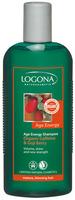 Енергетски шампон против опаѓање и нега на тенка и слаба коса - органски кофеин и органски гоџи-бобинки