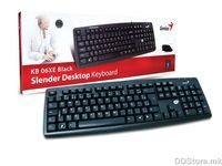 KB-06XE US, USB color box Black keyboard with palmrest,