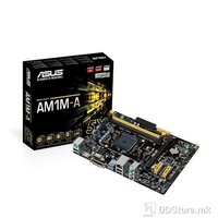 AM1M-A (DVI, HDMI) AMD Sempron & Athlon-Series APUs,  2xdual Ch. DDR3@1600Mhz,32GB max, 1 x PCIe 2.0 x16 (x4 mode), 2 x PCIe 2.0 x1, 2xSATAIII, Realtek® ALC887-VD 8-Channel High Definition Audio CODEC, Realtek GLAN, 4xUSB, 2xUSB 3.0,