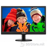 "Monitor 19"" 193V5LSB2/10 Philips LED Slim V-Line, 1366x768, 5ms, Black"