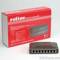21.14.3159-5 ROLINE RS - 108D, Fast ethernet Swich 8 port