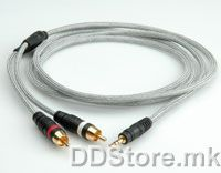 11.09.4551-10 ROLINE HQ Audio Cable,3.5mm-2xRCA M-M, 1.8m