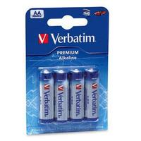 Batteries Verbatim AA 4pack Alkaline