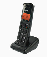 AEG DECT Phone EOLE 1400, Black, Handsfree/Speakerphone, caller ID, Alarm function, polyphonic mellodies, 30 contacts, 300m range