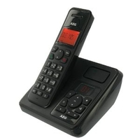AEG DECT Phone EOLE 1405 with answering machine, Black, LED Display, Handsfree/Speakerphone, caller ID, Alarm function, polyphonic mellodies, 30 contacts, 300m range
