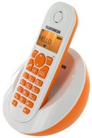Telefunken DECT Phone PEPS TB 201 Orange, Handsfree/Speakerphone, caller ID, Alarm function, 50 contacts, 300m range