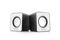 LOGIC 2.0 Speakers LS-09, Color: White, Output power: 3W x 2, Interface: 3.5 mm audio jack, Power Voltage: USB