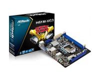 MB ASRock H61M-VG3, Socket: Intel® 1155, Chipset: Intel® H61, 1600MHz DDR3
