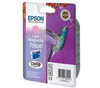 PTC EC-T806, T0806, L.Magenta, (12ml), Ink Cartridge for Epson Stylus Photo R265, R285, R360; RX 560, RX585, RX640, RX685; PX800FW