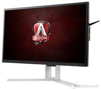 "AOC AG271QX, 27"", 16:9, 2560x1440, 350 cd/m2, CR 1000:1 , DCR 50.000.000:1, 170 °, 160 °, 1 ms, Audio In/Out,D-Sub,DVI-D,DisplayPort,HDMI,USB,MHL-HDMI, TCO'06, Boja Black Red, Stalak pivot,podesivo po visini,tilt,swivel, Quad HD 2560x1440@144Hz"